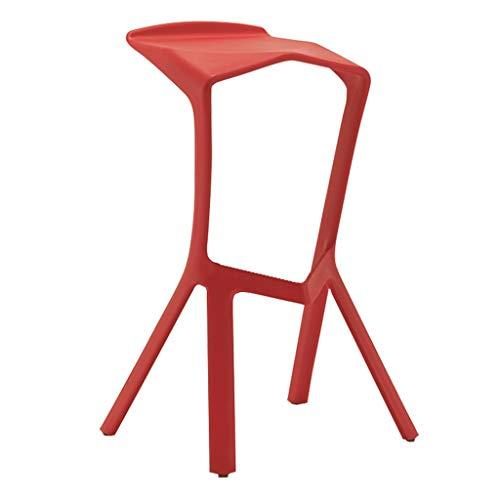 Tabouret De Bar Chaise en Plastique Cuisine Siège Protecteur De Plancher Personnalité Mode HUYP (Color : Red)