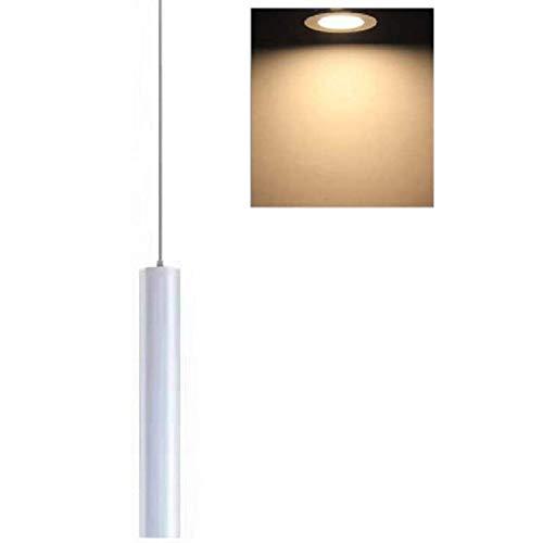 Hobaca 12W Dia 5CM * L 30CM Blanco LED COB de tubo Moderno Focos para el techo Destacar Luces colgantes Downlight Cocina Isla Comedor Tienda Bar Mostrador Decoración Cilindro Tubo Iluminación colgante