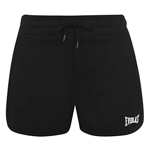 Everlast Mujer Pantalones Cortos Deportivos con Logotipo Negro L