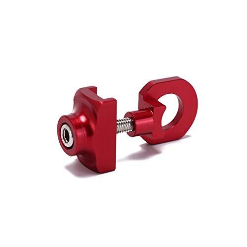 MMYX Tornillo de Cierre del Tensor del ajustador de la Cadena de Bicicletas para la Bicicleta de una Sola Velocidad de la Bicicleta (Color : Red)