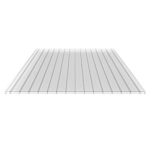 Stegplatte | Hohlkammerplatte | Doppelstegplatte | Material Polycarbonat | Breite 980 mm | Stärke 16 mm | Farbe Glasklar | Breitkammer