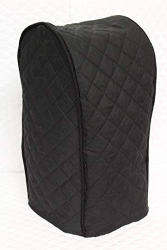 Simple Home Inspirations Ninja Blender Cover - Quilted Double Faced Cotton, Black
