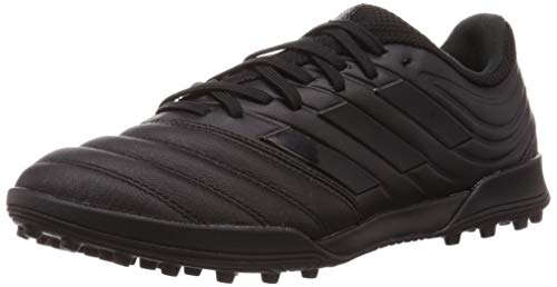 adidas Mens Copa 20.3 TF Football Shoe, Core Black/Core Black/Solid Grey, 43 1/3 EU