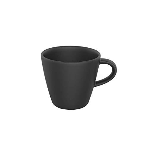 Villeroy & Boch - Manufacture Rock Kaffeeobertasse, elegante Tasse aus Premium Porzellan in erfrischendem Schwarz, spülmaschinengeeignet