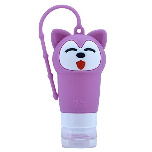 MOC Reise Flaschen Set,Auslaufsicher Silikon Nachfüllbare Portable Travel Zubehör Wiederverwendbar Reisebehälter für Shampoo/Spülung/Duschgel/Lotion/Toilettenartikel(Lila)