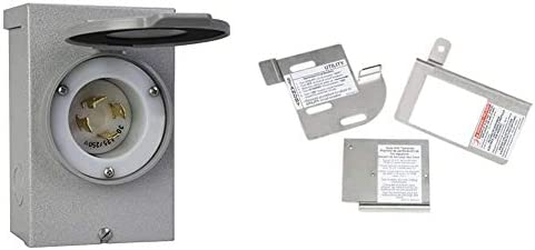 Reliance Controls Generators Up to 7,500 Running Watts PB30 30-Amp NEMA 3R Power Inlet Box, Gray