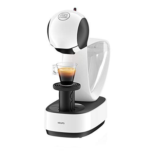 Krups Nescafé Dolce Gusto Infinissima KP1701 Kapsel Kaffeemaschine (für heiße und kalte Getränke, 15 bar Pumpendruck, manuelle Wasserdosierung, 1,2 l Wassertank, Abschaltautomatik) weiß