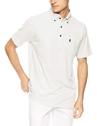 ユナイト スクラブ 白衣 介護 ケアワーカー おしゃれ メンズ レディース ボタンダウン ポロシャツ 半袖 制電消臭UVカット 左胸ポケット 脇下消臭テープ 全8サイズ 柔らか色合い9色 UN0030 ホワイト 日本 3L- 日本サイズ3L相当