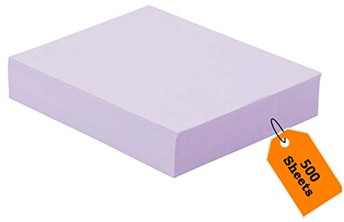 1InTheOffice Colored Copy Paper, Orchid, 8.5 x 11 inch Letter Size, 20lb Density, (500 Sheets)