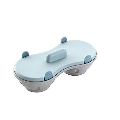 Yililay Bandeja de Huevos, Creativo Doble al Vapor de Huevo Caja de microondas de Huevo Bandeja Cocina del Molde del Huevo del Huevo escalfado Fabricante de Vapor Cocina Gadget (Azul)