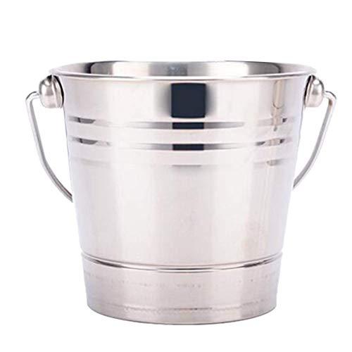 YWSZJ Eimer, doppelwandiger Weinflaschenkühler aus Edelstahl mit Deckel, Eiskübel mit Whiskysteinen und Zange für (Size : 2L)