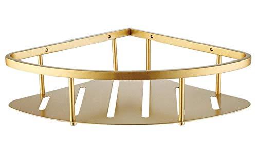 XCVB Beugel Planken manddouche Hoekopslag Caddy Roestvrij staal Gouden badkamerplank