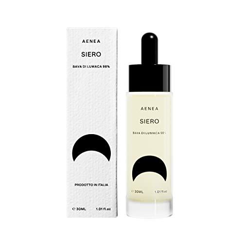 Aenea - Sérum purifiant anti-âge, 30 ml - Avec 98% de bave d'escargot pure et d'allantoïne naturelle - Pour les taches cutanées, anti-acné, anti-rides et régénération des cicatrices