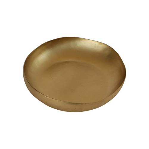 De Kulture Brass Centerpiece Bowl 6.0X1.5 DH (Inches) Aroma Diffuser Bowl For Gifts Air Freshener Dry Fruit Bowl (Gold)