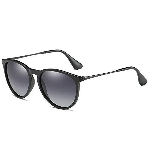 ZJMIYJ zonnebril, Cat Eye gepolariseerd verloop grijze zonnebril voor vrouwen schildpad Retro ronde gespiegelde lens zonnebril vrouwelijke zwarte fotolijst
