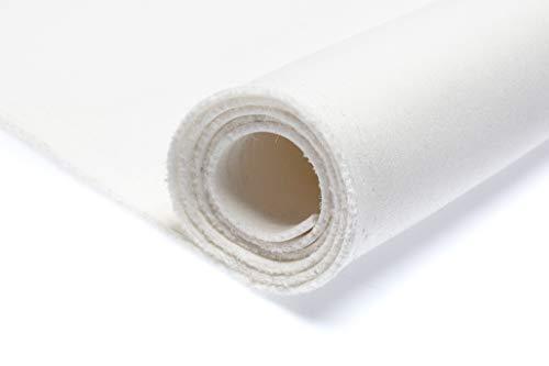 Nurek Scuba neopreno espuma Tela de punto grueso, 50 x 150 cm (Blanco)