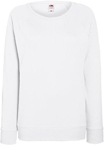 Damen Lightweight Raglan Sweat - In vielen tollen Farben Farbe Weiß Größe L