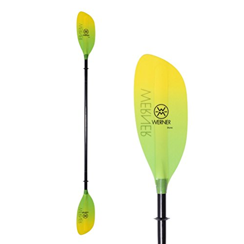 Werner Paddles Shuna Straight STD Kayak Paddle 2020-220cm/Gradient Citrus