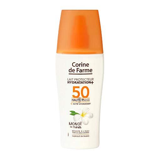 Corine de Farme | Lait Protecteur SPF50 UVA-UVB | Hydratation Renforcée | Filtres Photo Stables Résistants à l'Eau | Formule Clean Beauty | Monoï de Tahiti |150ml