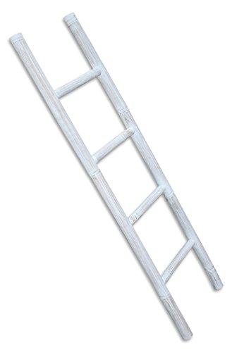 LioLiving®, Handtuchhalter/Dekoleiter aus Bambus (Einfachleiter, White-Washed) (#400040)
