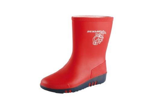Zentrallager Dunlop Acifort Mini Stivali in Gomma Altezza Media Non Foderati Unisex Bambino 29 Rosso