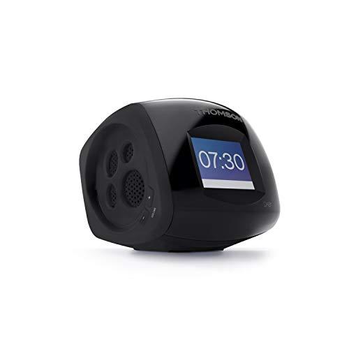 THOMSON - Radio Despertador proyector con Radio FM y Doble Alarma