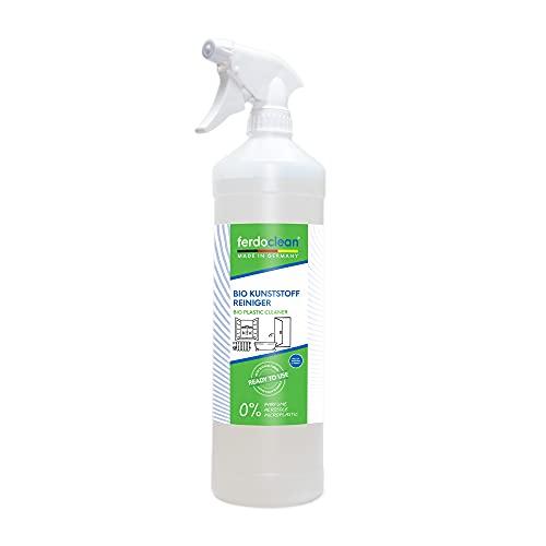 ferdoclean® 1 x 1000 ml Bio Kunststoffreiniger für Fensterrahmen, Gartenmöbel, uvm. | 1L Reiniger für alle Kunststoff Oberflächen | Caravan-Reiniger gegen hartnäckige Verschmutzungen