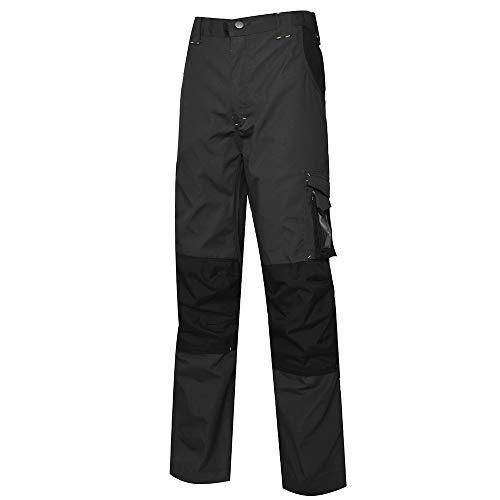 Just No Logo Arbeitshose mit Kniepolstertaschen Pro Herren Bundhose Regulär Beine , Dunkelgrau, XXXXL/(Taille:108cm) x (Schrittlänge:85cm)