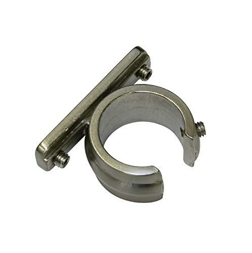 GARDINIA Ring Adapter für Universal Träger für Gardinenstangen Ø 20 mm, 2 Stück, Serie Chicago, Metall, Edelstahl-Optik