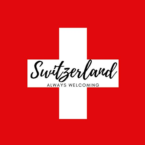 Switzerland, always welcoming: This is a funny and elegant travel diary, guest book or notebook. 101 pages. High quality cover and (8,5 x 8,5) inches in size.