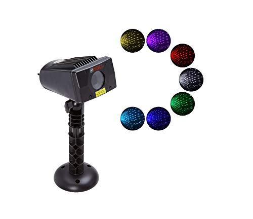 LedMAll Motion Snow Fall Full Spectrum Star Effects 7 Color White Laser Christmas Lights, and Decorative Lights with Remote Control