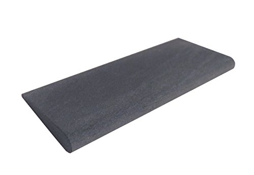 Genuine Arkansas Black Surgical (Ultra Fine) Slip Stone Whetstone for Sharpening Carving Tools 4' X 1 5/8' with 1/8' and 5/16' Radius BAS-14-P