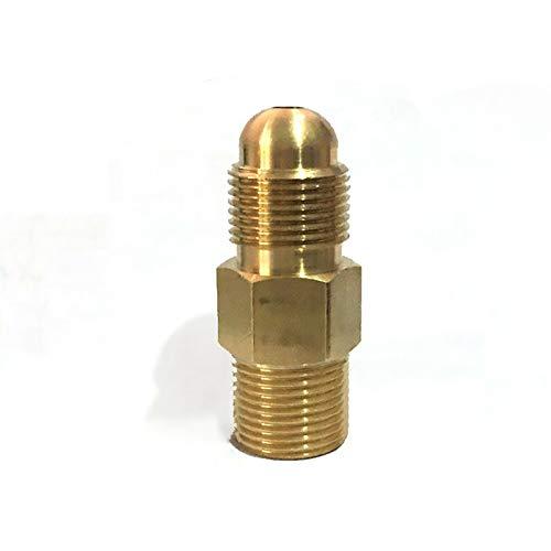 Adaptador de argón SENRISE G5/8 a G5/8 Adaptador de CO2 para adaptarse a un regulador de CO2 a botella de gas de argón o de CO2 (paquete de 1)