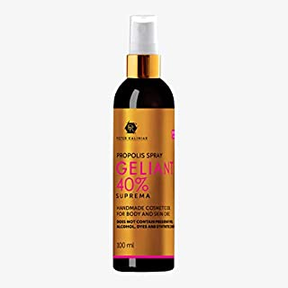 Organic Bee Propolis Oil Natural Extract, No alcohol, Effective Skin Treatment, Moisturising , Anti-spot, Anti-Acne, Sunburn/Pigment/Freckle Cure/Heal, Face Radiant(Geliant Gold Line Propolis 40%)