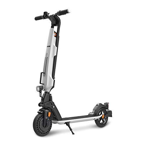 Inomile Patentado Estructura de Seguridad Nuevo diseño Scooter eléctrico 350w, Carga 120kg, Scooter Plegable con aprobación de Carretera (Abe) Fabricado en Aluminio de aviación (Blanco)