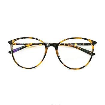Big Round Computer Blue Light Blocking Glasses - Clear Lens Reading Glasses for Women Men Anti Eye Strain & UV Glare 5033tor-250  Tortoise 2.50