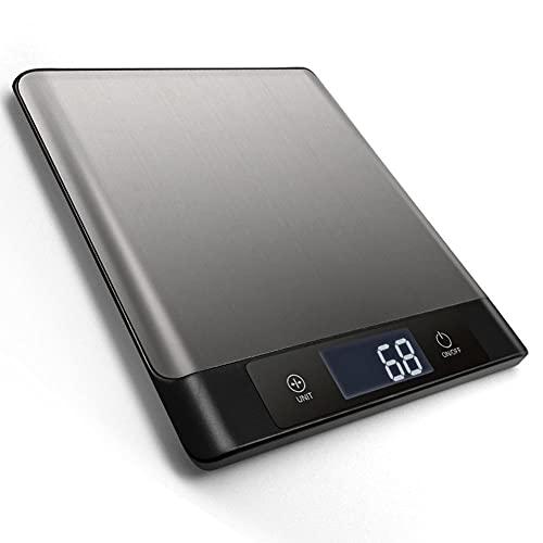 Bilancia Digitale Per Alimenti Bilancia Da Cucina Da 5 Kg Utilizzata Per Cuocere Cucinare Ketchup E Preparazione Dei Pasti Bilancia Per Alimenti Con Precisione Di 0,1 G E Display LCD Di Facile Lettura