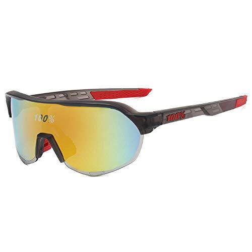 Mazu Homee Gafas de sol deportivas con lupa para hombres y mujeres Ciclismo al aire libre bicicleta tinta colorida (6 tipos de color opcional)
