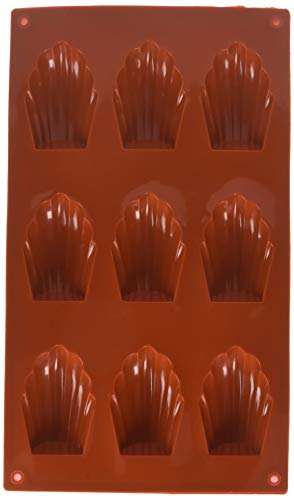 2 Pack X 9-Cavity Medium Silicone Mold for Homemade Madeleine Cookies, Chocolate, Candy, and More