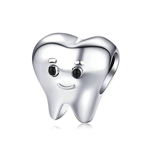 Eternalll Jewellery Smiling Tooth Fairy Dentist Charm Bead for Pandora Womens Jewelry for Teen Gifts or Kids Spacer Bead