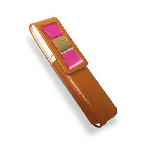 IQOS 3 MULTI 専用 アイコス3 リボン 本革 マルチ ケース (ライトブラウン/ローズリボン) iQOSケース シンプル 無地 保護 カバー 収納 カバー 電子たばこ 革