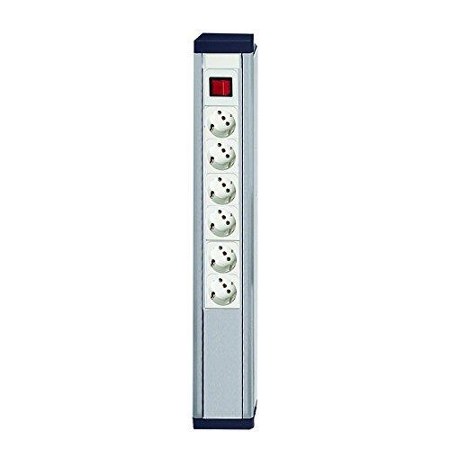 Treston CJK70 SET CJK-Energieleiste, Enthält 3 Doppelsteckdosten (E-1) und Einen Ein-Aus-Schalter (E-2)