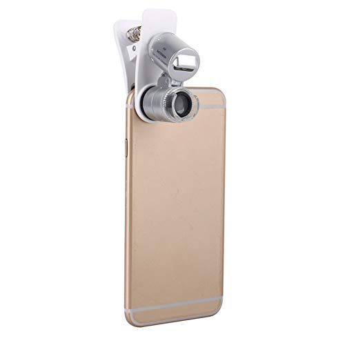 60X Magnifying Glass Mobile Phone Lens Camera LED Microscope Magnifier with Clip for iPhone