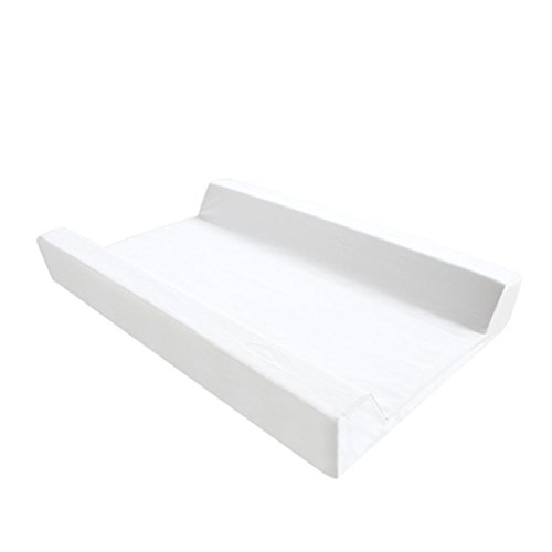 Ali@ Coussin à langer blanc en forme de U, cale-pied, éponge imperméable respirante, tissu de coton/cuir Coussin à langer nouveau-né en option, tapis de massage, charge 10 kg