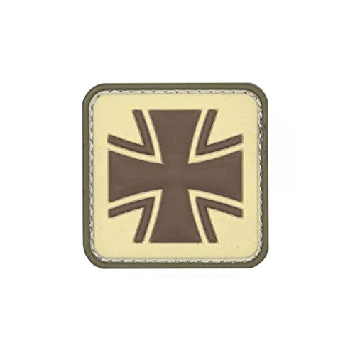 Copytec Balkenkreuz Patch 3D Rubber Bundeswehr Abzeichen Aufnäher Emblem Einheit Uniform Tactical Klett Sand 5cm #23044