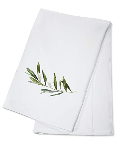 Simple Olive Branch Watercolor Illustration 9003687 (100% Cotton Kitchen Towel)