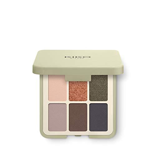Kiko Milano Green Me Eyeshadow Palette | Paleta con 6 Sombras de Ojos con Múltiples Acabados: Mate, Perlado y Metálico