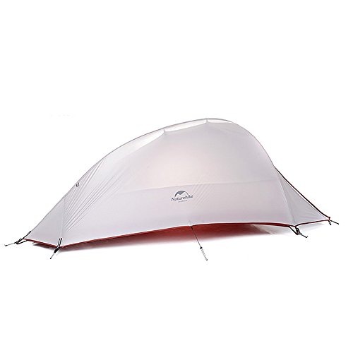 1 Person 4 Saison Tent Double Skin 20D Silicone Fabric Camping Ultraleicht Zelt(Gray)