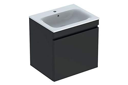 Keramag Geberit Renova Plan Waschtischunterschrank für Waschtisch, schmaler Rand mit 1 Schublade, 58,8x58,5x47,3cm, Lava, 869561000