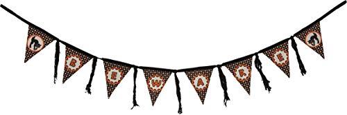 Primitives by Kathy Banner Garland, Fabric, Ribbon, Beware, 72-Inches